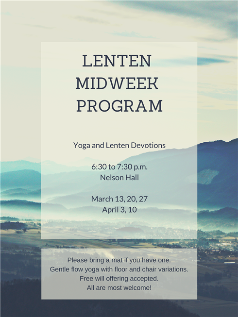 Lenten Midweek Program