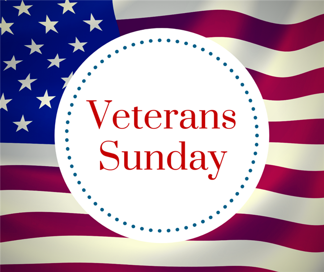 Veterans Sunday - November 10